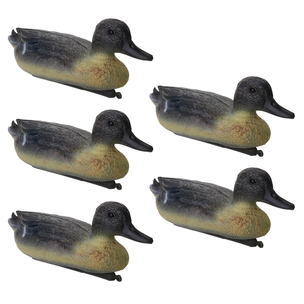 5 Pieces Portable Drake Duck Decoys For Hunting Garden Yard Ornaments