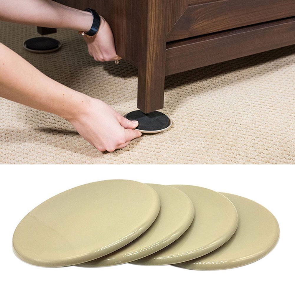 8pcs Anti Scratch Sturdy Heavy Appliances Glider Furniture Sliders Noise Reduction Thickened Reusable Protect Carpet Moving Pad
