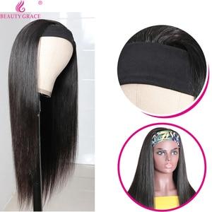 Парик с головной повязкой, парик из человеческих волос, с головной повязкой, прямые волосы парик 8-24 дюймов бразильских Волосы Remy парики для ...