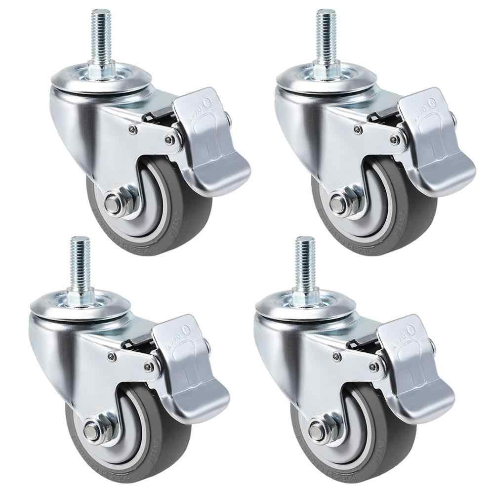 Ruedas giratorias Caster-4 piezas Rueda universal Rueda de 1 pulgada Rueda blanca Rueda giratoria para muebles