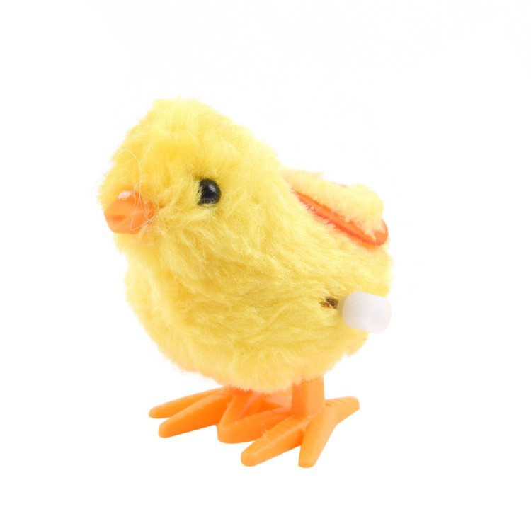 Spring Chickens Yellow Chickens Winding Plush Chickens Wind-up Toy Stall Children'S Educational Toy Wholesale