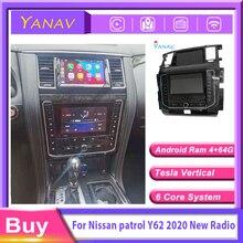 Автомобильный радиоприемник 2 din Android для Nissan патруль Y62 2012-2019 Автомобильный GPS навигатор мультимедийный плеер модифицированный до 2020 новых м...
