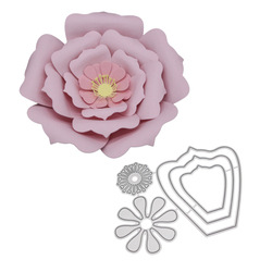 Flower Metal Die Cutting Dies Bloom Frame Cut Die Mold Scrapbook Embossing Paper Craft Knife Mould Stencil Stamps and Dies
