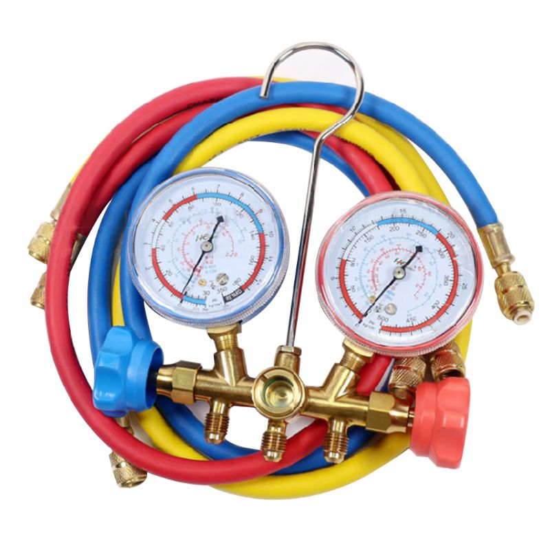 AC Diagnostic Manifold Freon Gauge Hose Set Charging R134A R12 R22 R502 Refriger G99A