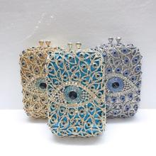 Bags Purses Bridal-Hand-Bag Evening-Bag Crystal Wedding-Party-Minaudiere Multicolored