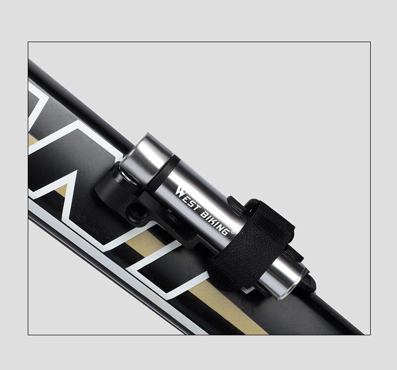 WEST BIKING, мини велосипедный насос, велосипедный ручной воздушный насос для велосипеда, шиномонтажный насос для AV/FV MTB, горный велосипедный насос