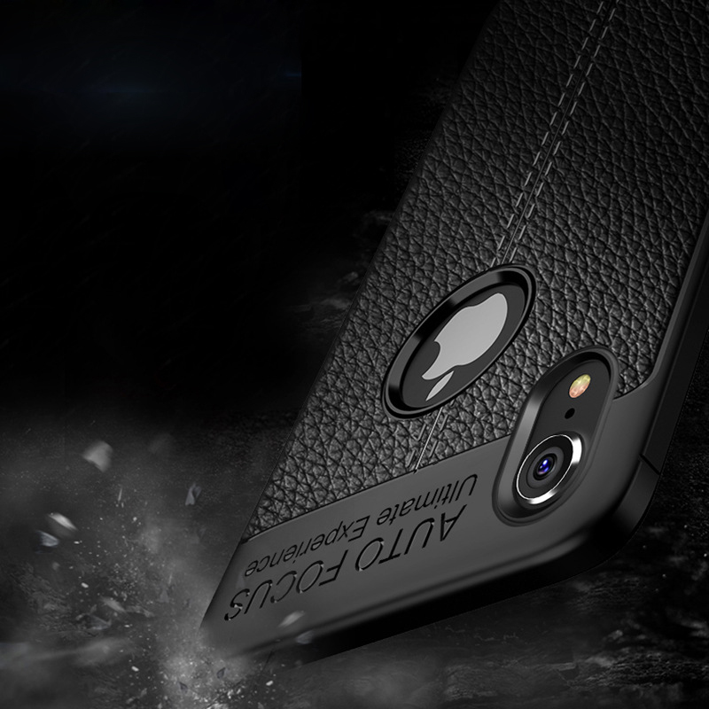 Case For iPhone 7 8 Plus Cases PU Leather Case Silicone Slim Cover For iPhone X XS Max XR 6 6s Plus Women Man Back Case E1