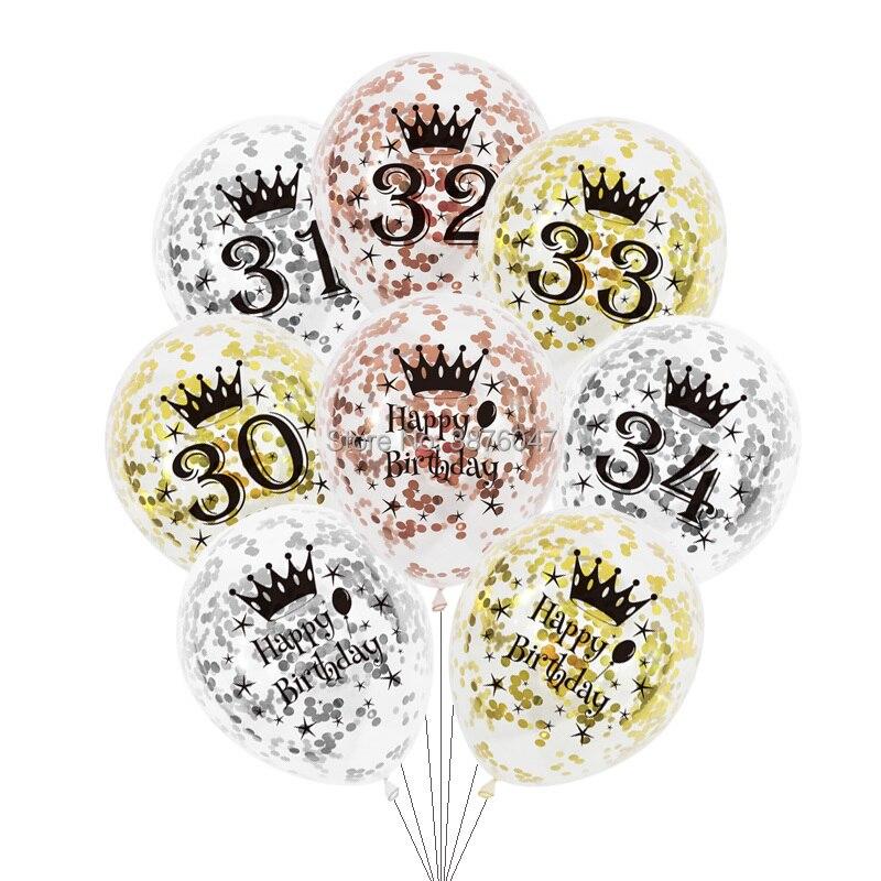 Воздушные шары в виде цифр 30, 31, 32, 33, 34, 6 шт./лот