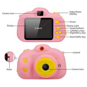 Image 2 - Children Mini Kids Camera Educational Toys for Children Baby Gifts Digital Camera 1080P HD Selfie Video Camera With 32G Card