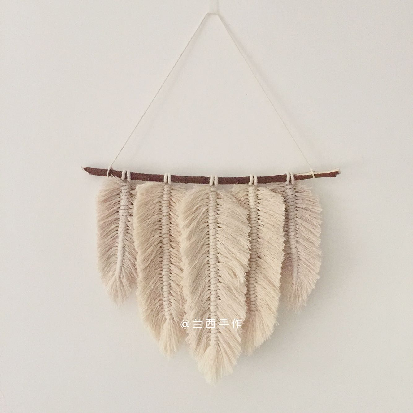 Ins Macrame Hand-made Cotton Woven Tapestry Wall Hanging Feather Bohemia Nordic Wall Decoration Pendant Boho Decor