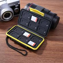 ALLOYSEED, 12 слотов, водонепроницаемый чехол для карт памяти, защитный держатель для карт SD/Micro SD/TF, коробка для хранения карт, защитный чехол, сумка для переноски