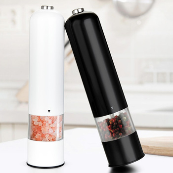Electric Automatic Mill Pepper and Salt Grinder Light Peper Spice Grain Mills Porcelain Grinding Core Kitchen Grinding Tools image