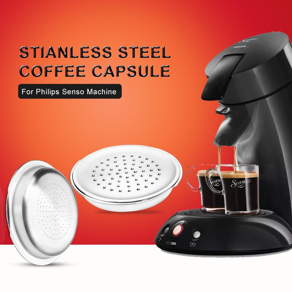 Нержавеющаясталь Кофе капсулы с крышками для Philips Senseo Кофе машина Кофе Фильтр Инструменты програф твердые капсулы