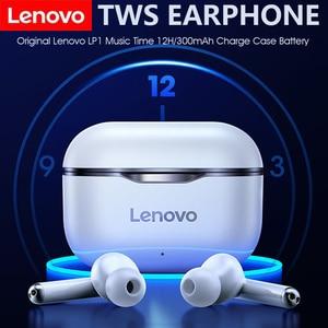 Lenovo LP1 Wireless Earphone Bluetooth 5.0 TWS Earbuds Waterproof Sport Headset Noise Cancelling Mic Dual Stereo HIFI Bass Siri