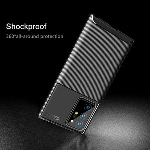 Image 4 - For Samsung Galaxy Note 20 Ultra Case Carbon Fiber Cover Soft TPU Silicon Phone Case For Samsung Galaxy Note20 A40 A21S A50 A30