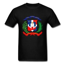 Top Design Men T-shirt Dominican Republic Flag Short Sleeved Cotton Crew Neck T-shirt For Boy Shirt(China)