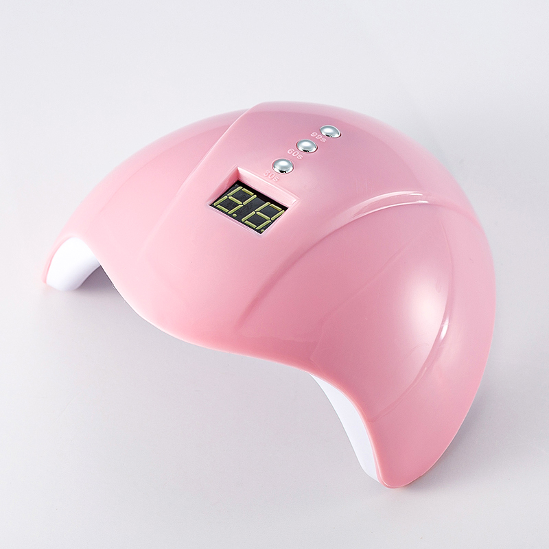MIni5 36W PIink UV LED nail dryer Nail Lamp Gel Polish Curing Lamp 30S/60S/90S Timer LCD Display Lamp for Nail Dryer image