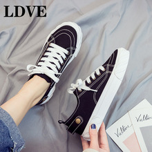 Women Vulcanize Shoes 2019 New Sneakers Platform Casual Walking Female Flats