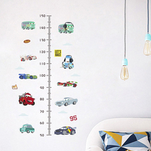 free shipping Cartoon Disney Car PVC Wall Stickers  Kids Room Height Measure Home Decoration Growth Chart Mural Art Decals