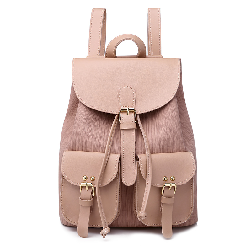 2020 New Backpack For Women Leather Bagpack Feminine Mochilas Fashion Large Schoolbag For Teenagers Girls Candy Color Bag