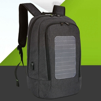 Solar Backpack Men and Women Charging Casual Outdoor Bag USB Charger Emergency Backpack 4