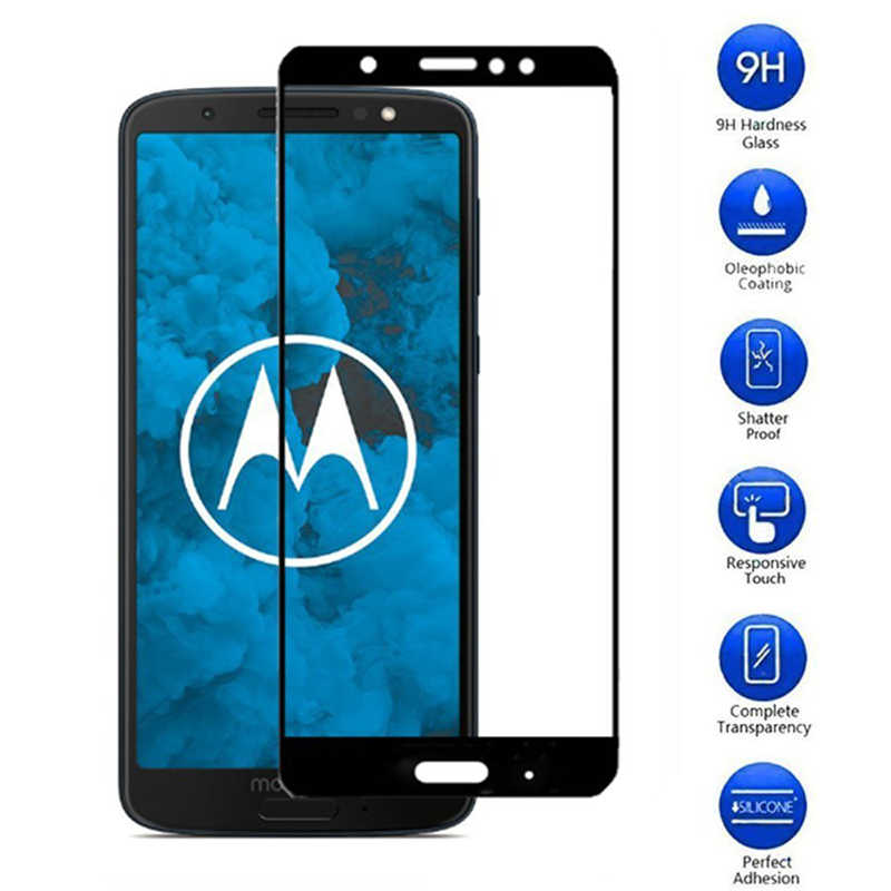 2.5D Full Cover Tempered Glass For Motorola Moto G4 G5 G6 G5S Plus Color Glass Guard For Moto G4 G6 Play E4 E5 Screen Protector