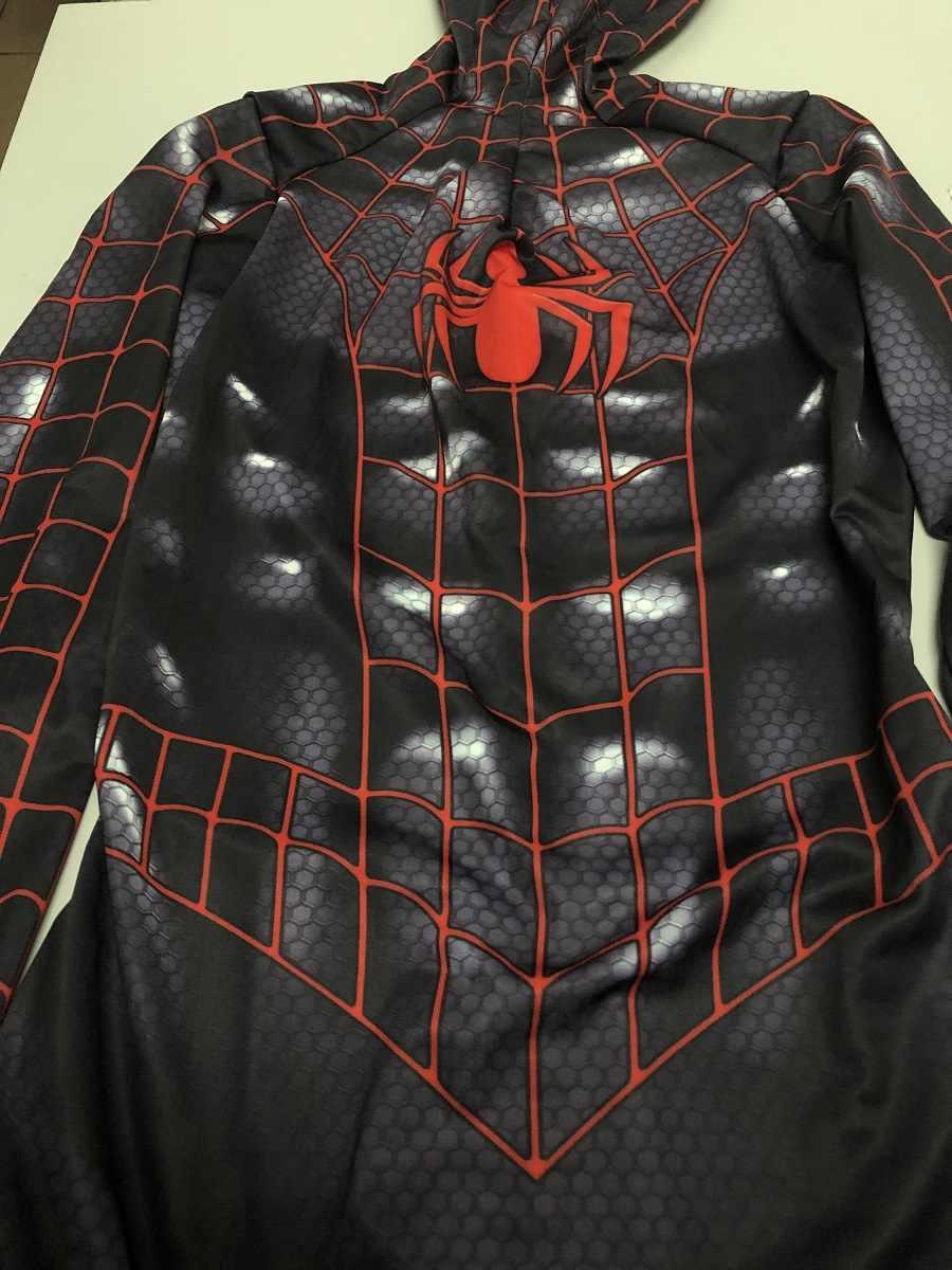 Miguel O'Hara örümcek adam cosplay süper hero örümcek adam kostümleri Fullbody Zentai Suit yetişkin erkek tulum uzun kollu tulum