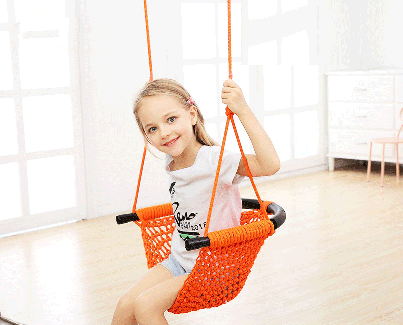 Creative Hand-knitted Swing Indoor And Outdoor Household Baby Garden Swing Chair Hanging Chair Rope Kids Swing For Gifts LB367