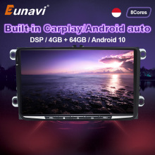 Eunavi DSP 2 Din Android Car Multimedia Radio GPS For Volkswagen VW Skoda Octavia Golf
