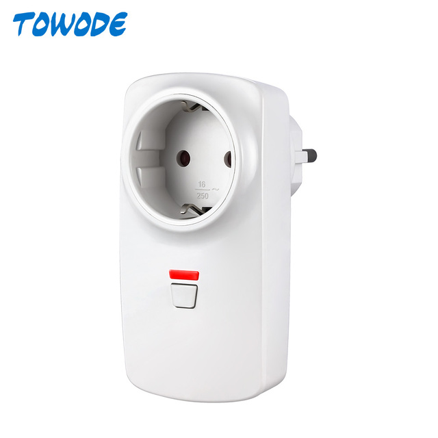 Towode Wireless Remote Control Smart Wireless Socket Adapter Switch Plug Outlet for Wifi GSM Alarm System G90B Plus