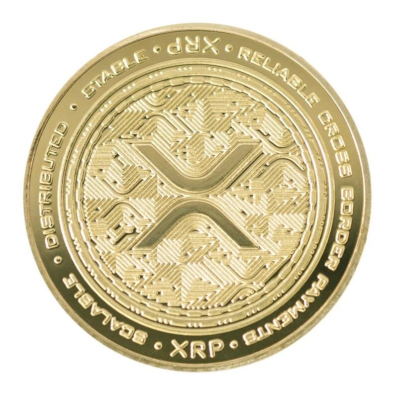 Люмен Stellar XRP цифровая валюта позолоченная памятная криптовалюта коллекционный подарок