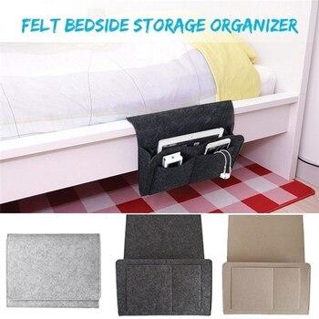 Organisateur de rangement de chevet | Caddie suspendu, poches de support de lit, pochette de canapé de lit, poches de support de lit en feutre pour livre 2