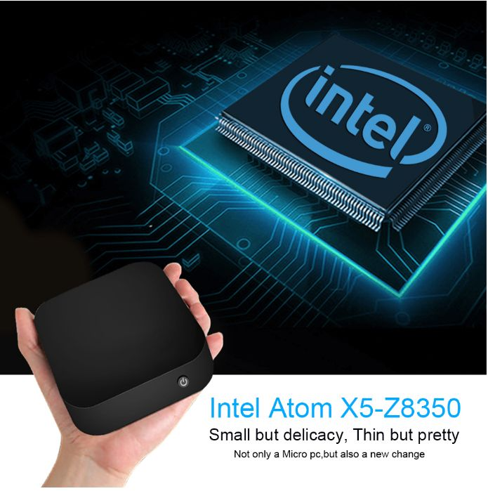 Wintel Pro TV Box Intel Z8350 Quad Core Mini PC 2GB 32GB 4.0 For Windows 10 TV Box W8 PRO