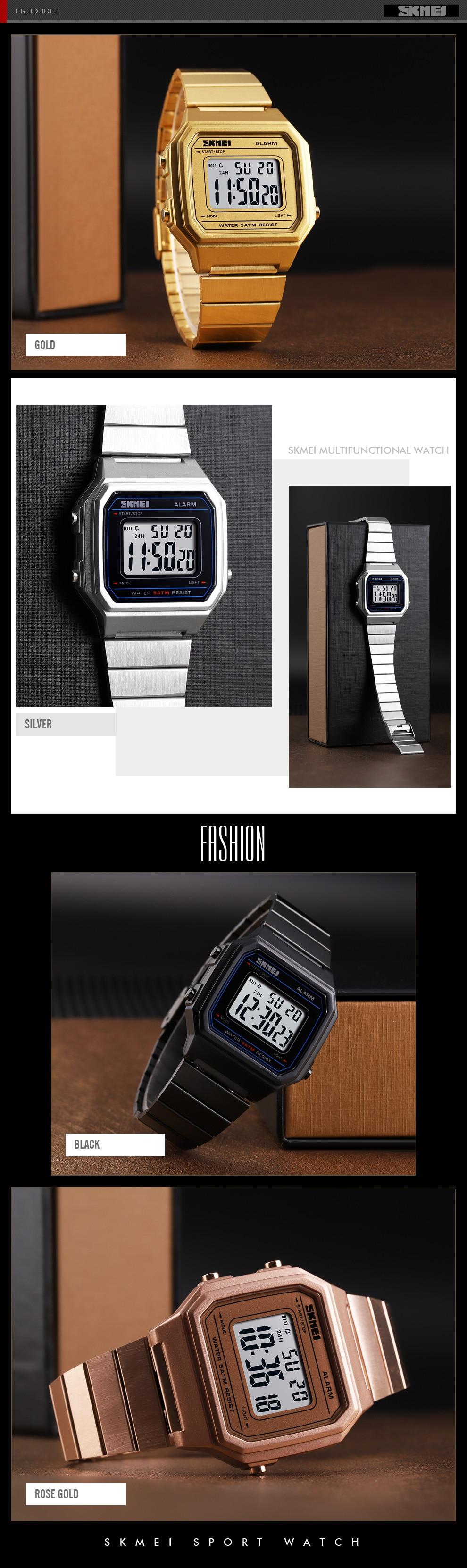 de Luxo Em Aço Inoxidável relógio de