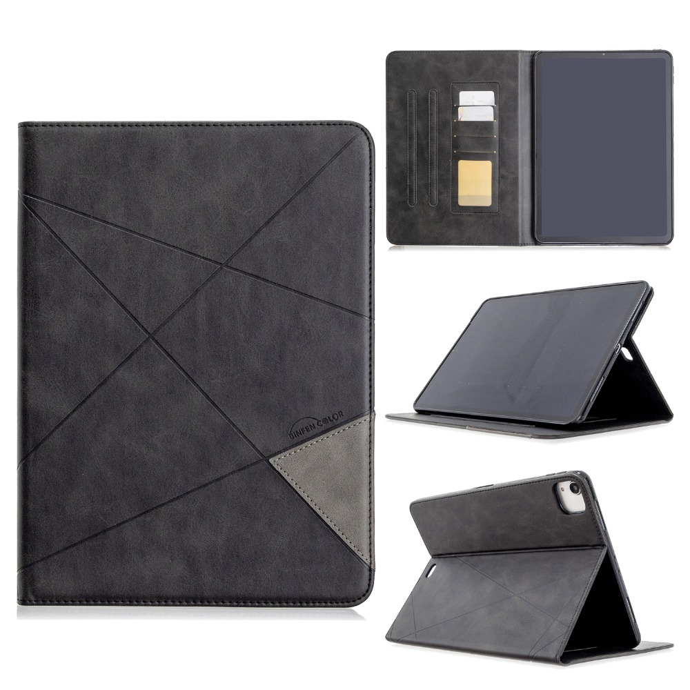 With PU iPad Soft Back 2020 Wallet Cover For Case 2018 Pro Holder Silicone 12.9 Leather
