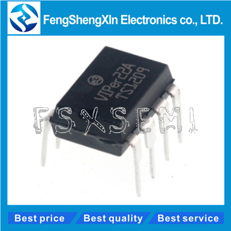 5PCS SMPS Primary Switcher IC ST DIP-8 VIPER12 VIPER12A VIPER12A DIP AM