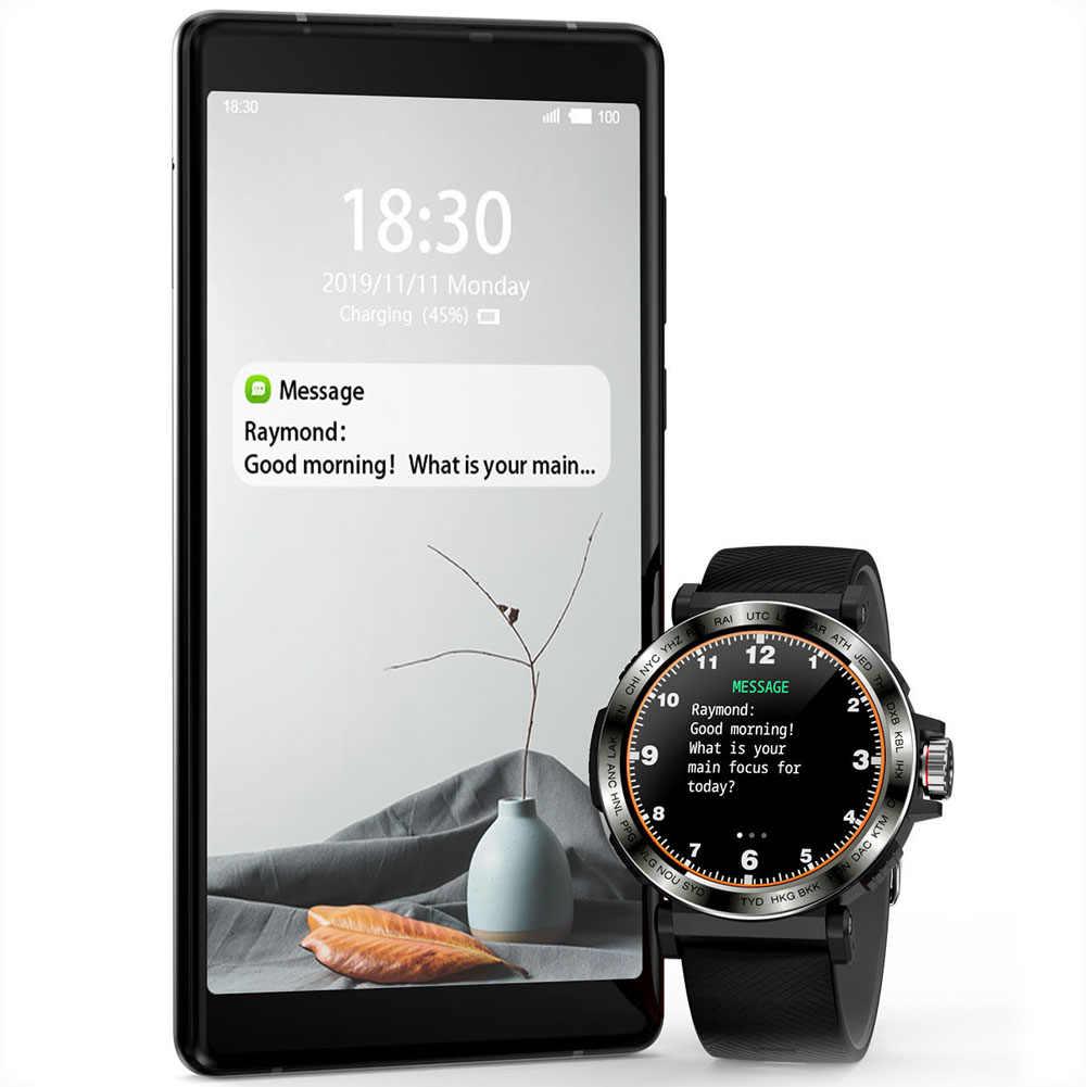 S18 מלא מסך מגע חכם שעון גברים IP68 עמיד למים שעון קצב לב צג Smartwatch עבור IOS אנדרואיד טלפון ספורט שעון