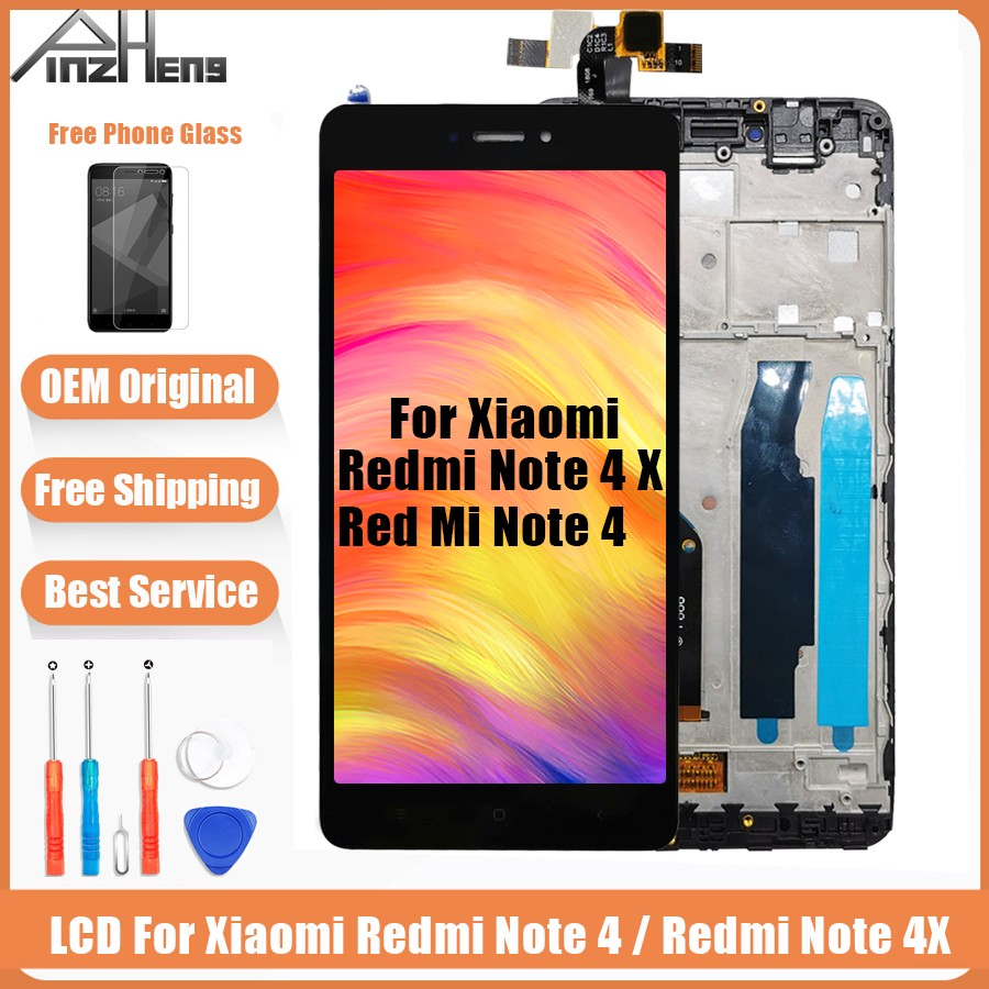 PINZHENG AAAA Original LCD For Xiaomi Redmi Note 4 4X Display Screen For Snapdragon 625 MTK Helio X20 Replacement LCD Display