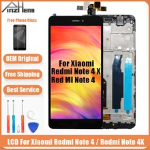 PINZHENG AAAA Original LCD For Xiaomi Redmi Note 4 4X Display Screen Snapdragon 625 MTK Helio X20 Replacement