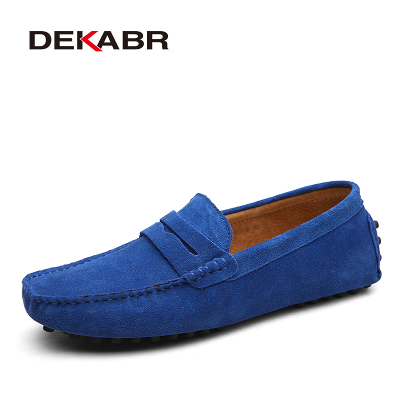 DEKABR 2020 New Arrival Men Driving Moccasins Genuine Leather Loafers Casual Fashion Wedding Men Footwear Large Size 38~50