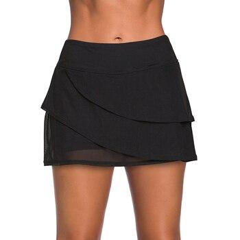 2020 Sexy Negro escalonado natación Culotte mujeres bikini traje de baño Bottoms...