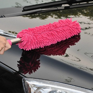 Image 2 - 1 pçs cores aleatórias 57cm extra longo flexível escova de lavagem carro microfibra macarrão chenille liga roda limpeza ferramenta