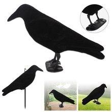 Поддельная птица для охоты, креативная Реалистичная черная клетка из ПЭ для украшения сада, ловушка для вредителей на открытом воздухе, вор...