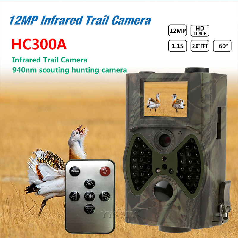 12MP Infrared Trail Camera 2.0'' TFT 1080P HD Video Cam Night Vision Outdoor Scouting Wildlife Animal Mini Hunting Camara Espia image