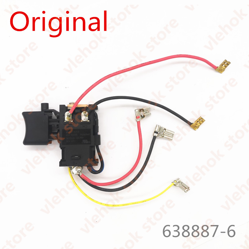 Switch For Makita HP457D DF457DWE DF457D HP347D DF347D HP457 DF347DWE 638887-6 Power Tool Accessories Electric Tools Part