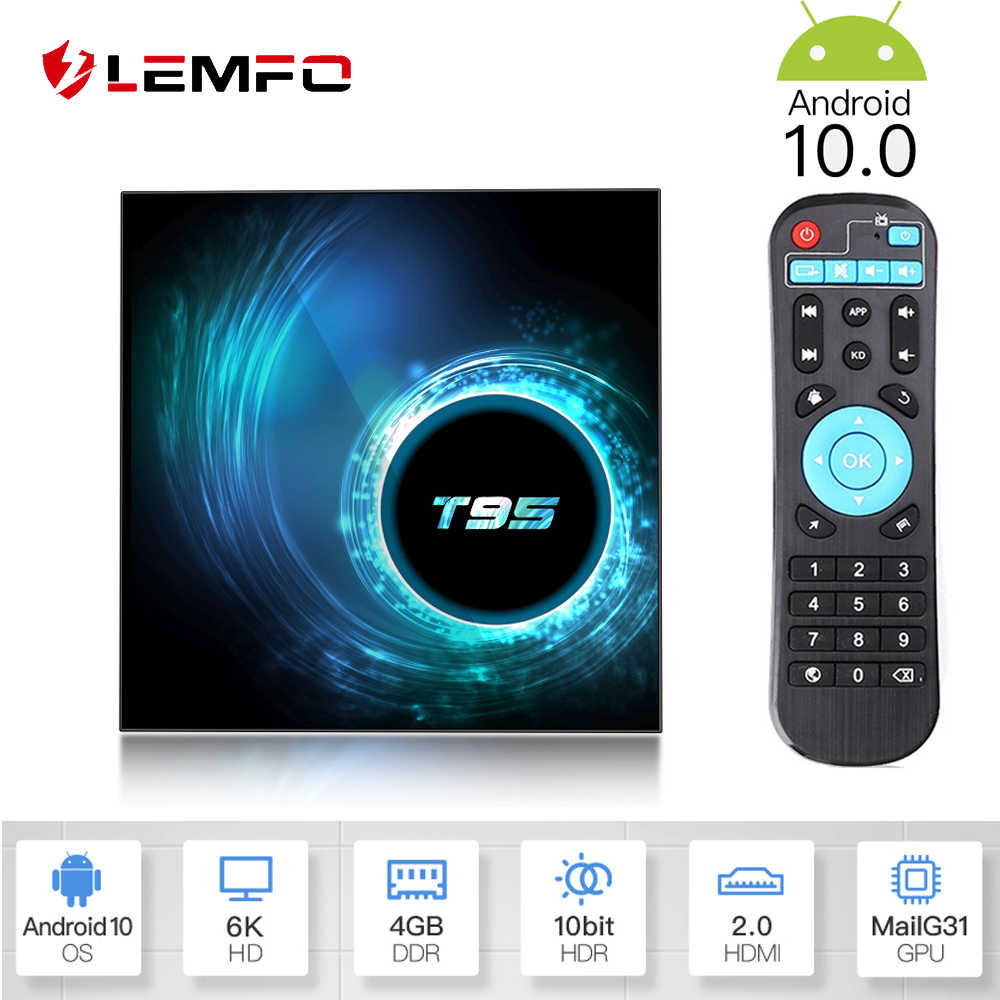 LEMFO 2020 plus récent T95 H616 Smart Android TV Box Android 10.0 soutien 6K 3D YouTube Google jouer Netflix Android 10 décodeur