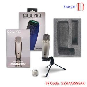 Image 1 - Offres spéciales 1 pièces 2 pièces 4 pièces 100% original Samson C01u Pro USB Microphone à condensateur de Studio professionnel micro de surveillance en temps réel