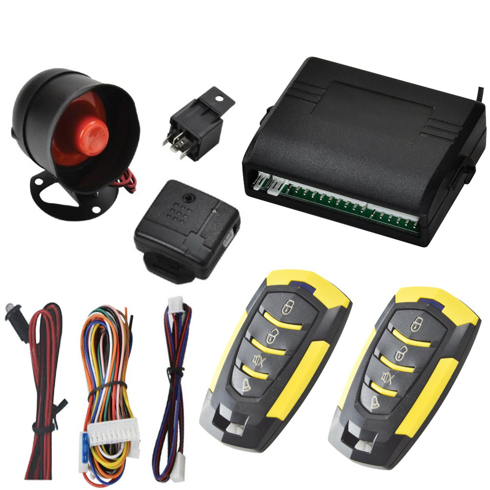 2019 High Quality 12V Car Auto Alarm Remote Central Door Locking Vehicle Keyless Entry System Kit Car Styling dfdf image