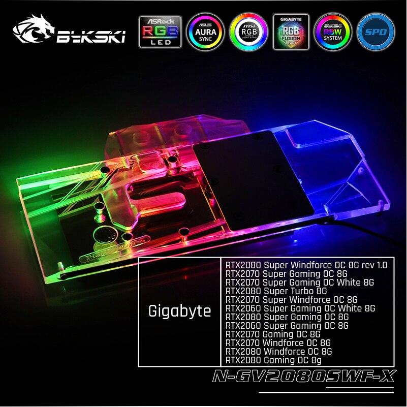 Bykski N-GV2080SWF-X GPU Water Cooling Block For Gigabyte RTX2080 Super Windforce OC 8G / RTX2070 Super Gaming OC 8G