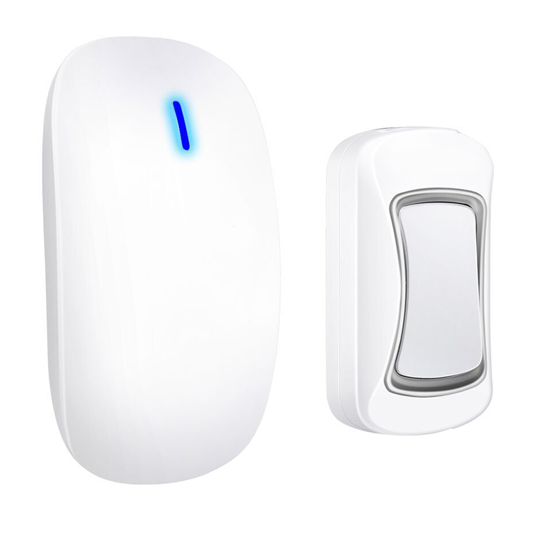 Intelligent Wireless Doorbell Waterproof 300M Remote Long Range Door Bell 1x Outdoor Transmitters 1x Indoor Receiver(Us Plug)